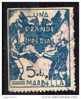 """Marbella  ( Malaga ) - Falange  -  """" Una, Grande, Imperial""""  - 5 Cts.. - Sofima 7   Guerre Civile Espagne & 25 * - Sin Clasificación"""