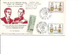 Equateur ( FDC De 1962 Voyagé En Recommandé Vers La Grande-Bretagne à Voir) - Ecuador