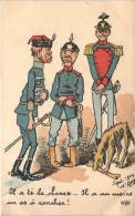 WW1 - Il A Te La Chance ... Il A Au Moins Un Os à Roncher ! (illustrateur D'Amy 1914) (caricature) - Oorlog 1914-18