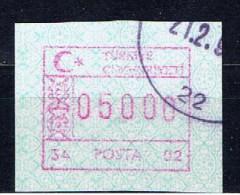 TR+ Türkei 1992 Mi 2 Automatenmarke ATM 05000 L - 1921-... République