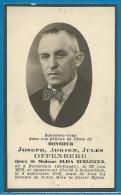 Souvenir Pieux De Joseph Adrien Jules Offenberg - Rotterdam - Schaarbeek - 1876 - 1948 - Images Religieuses