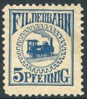Germany Deutschland Allemagne Filderbahn Railway Eisenbahn Chemin Fer Parcel Paket Colis Revenue TRAIN Steam Locomotive - Trains