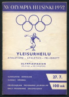 1952 Helsinki Olympic Programme - 27th July - Athletics - Livres