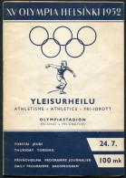 1952 Helsinki Olympic Programme - 24th July - Athletics - Livres