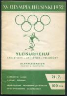 1952 Helsinki Olympic Programme - 21st July - Athletics - Books