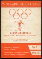 1952 Helsinki Olympic Programme - 20th July - Athletics - Books