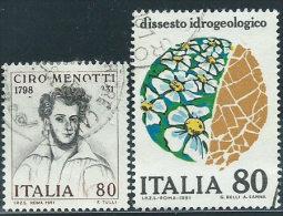 Italia 1981 Usato - Menotti; Dissesto Idr. - 6. 1946-.. Repubblica
