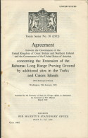 1952 HMSO Treaty Series 10 USA / UK Government Turks & Caicos Misile Flight Range Sites - Historical Documents