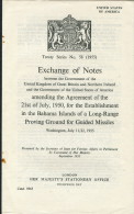1955 HMSO Treaty Series 58 USA / UK Government Bahamas Missile Flight Range Sites - Historical Documents