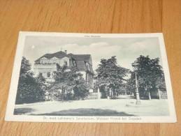Villa Mathilde. Dr. Med. Lahmann's Sanatorium, Weisser Hirsch Bei Dresden. Germany - Dresden