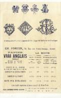 PARIS (75001) / PUBLICITES/Publicité Sur Les Timbrage Et LeVrai Papier Anglais CH.FORTIN 59,rue Des Petits-Champs PARIS - Publicités