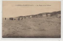 STELLA PLAGE  La  Plage Et Les Cabines  Animée - France