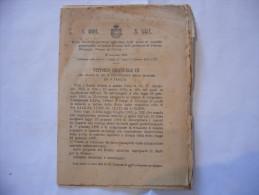 REGIO DECRETO RIDUZIONE QUOTE DI SUSSIDIO PER COMUNI DI PARMA PIACENZA PESARO URBINO 1905