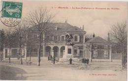 Cpa,albertville,savoie, 1908,la Sous Préfecture Et Monument Des Mobiles,photographe  éditeur A Détraz,73 - Albertville