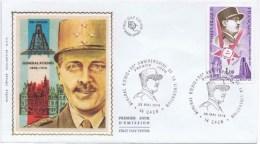 Lettre Premier Jour  No 623 GENERALE KOENIG 30E ANNIVERSAIRE DE LA LIB2RATION 25 MAI 1974 - FDC