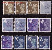 GRAN BRETAÑA / GREAT BRITAIN / GRAN BRETAGNE  AÑO / YEAR / ANNÉE 1981 YVERT Nº 980/91 ** MNH - ISABEL II - EMISIONES REG - 1952-.... (Elisabeth II.)