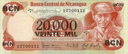 Nicaragua 20000 Cordobas 1984 Pick 147 UNC - Nicaragua