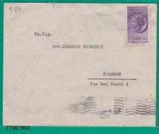 ITALIA, 1955, Busta Viaggiata Affrancata Con Dichiarazione Dei Redditi  25 L. - 1946-60: Storia Postale