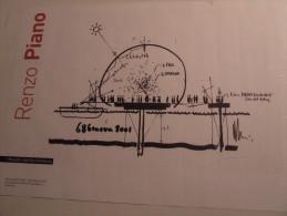 Alt428 I Maestri Dell´architettura, Riproduzione Schizzo Progetto Bolla Porto Antico Genova Renzo Piano Architetto - Architettura