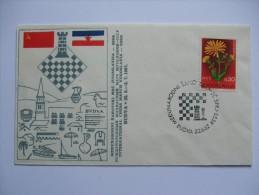 YUGOSLAVIA 1967 COVER MEDUNARODNI SAHOVSKI MEC BUDVA - 1945-1992 Socialist Federal Republic Of Yugoslavia