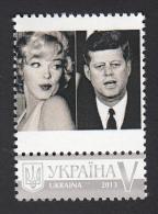 "Uk Ukraine 2013 Mi. Nr. 1341 ""My Stamp"" John F. Kennedy  M: Monroe M I - Acteurs"