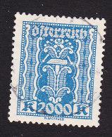 Austria, Scott #285, Used, Symbols Of Industry, Issued 1922 - 1918-1945 1a Repubblica