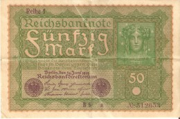 BILLETE DE ALEMANIA DE 50 MARKS  DEL AÑO 1919 (BANK NOTE) - [ 3] 1918-1933 : República De Weimar