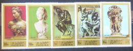 08 Fujeira 1972 Mi.846-850 MNH Famous Sculpture - CARPEAUX RODIN Complete Set - Fujeira