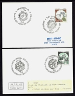 LOT 4 LETTRES ROTARY INTERNATIONAL- EUROPE- ITALIE- TAMPONS DE 1991-94 - 2 SCANS - Rotary, Lions Club