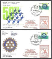 LOT 4 LETTRES ROTARY INTERNATIONAL- ASIE- AUTRALIE- TAMPONS DE 1971-93 - 2 SCANS - Rotary, Lions Club