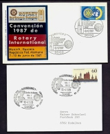 LOT 4 LETTRES ROTARY INTERNATIONAL- EUROPE- ALLEMAGNE- TAMPONS DE 1985-87 - 2 SCANS - Rotary, Lions Club