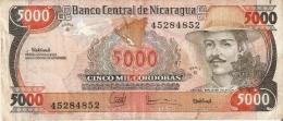 BILLETE DE NICARAGUA DE 5000 CORDOBAS DEL AÑO 1985 (BANKNOTE) - Nicaragua