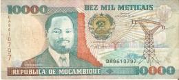 BILLETE DE MOZAMBIQUE DE 10000 METICAIS DEL AÑO 1991 (BANKNOTE) - Mozambique