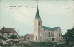 25 REUGNEY / L'église / Carte Couleur - Autres Communes