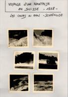 Voyage D´une Nantaise En SUISSE - 1958 - SCHAFOUSE - Chutes Du Rhin - Cascades - Lieux