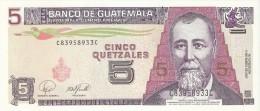 BILLETE DE GUATEMALA DE 5 QUETZALES DEL 17 DE ENERO 2007  (BANKNOTE) - Guatemala
