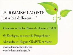 """Scan9 : Dordogne, Périgord : Carsac-Aillac - """"Le Domaine Lacoste"""" Chambres Et Tables D´Hôtes De Charme - Handel"""