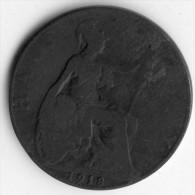 Great Britain Half Penny 1918 - 1902-1971 : Monnaies Post-Victoriennes