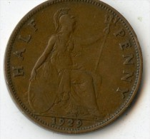 Great Britain Half Penny 1929 - 1902-1971 : Monnaies Post-Victoriennes