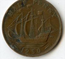 Great Britain Half Penny 1950 - 1902-1971 : Monnaies Post-Victoriennes