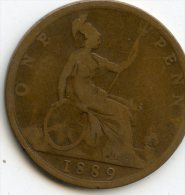 Great Britain Half Penny 1889 - 1816-1901: 19. Jh.