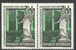 """Österreich 1964,  2er-Streifen, """"Parlam. - Wissenschaftl. Konf. Wien""""  ANK Nr.1182 **/ Feinst Postfrisch - 1945-.... 2nd Republic"""