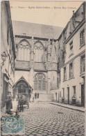 37,tours En 1904,authentique,vue De L´église Saint Julien,et L´entrée Rue Colbert,attelage Taxi,avec Cochet,rare