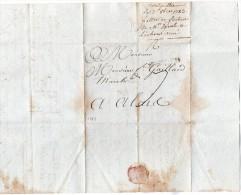 TB 220 - Lettre De MONTPELLIER Pour ALAIS ( Alès ) - Marcophilie (Lettres)