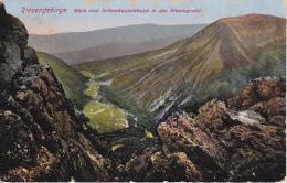 AK Riesengebirge - Blick Vom Schneekoppenkegel In Den Riesengrund - Stempel Schneekoppe - 1914 (8371) - Tschechische Republik