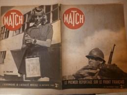 1939 MATCH ; La FINLANDE Et Ses Valeureux Soldats;VENUS De MILO; Théâtre Aux Armées; La POLOGNE Martyre...etc... - Français