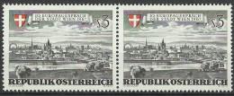 """Österreich 1967,  2er-Streifen, """"Europagespreche Der Stadt Wien""""  ANK Nr.1271 **/ Feinst Postfrisch - 1945-.... 2nd Republic"""