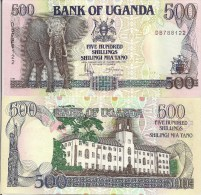 Uganda P33b, 500 Shillings, GREAT Elephant / Makerere University, Kampala - Oeganda