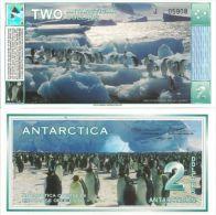 Antarctica $2, Adele Penguins At Paulet Isl., Hologram! - Banknotes