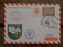Cover Sent From Austria Special Cancel Ballonpost 1976 Hot Air Balloon - 1945-.... 2nd Republic